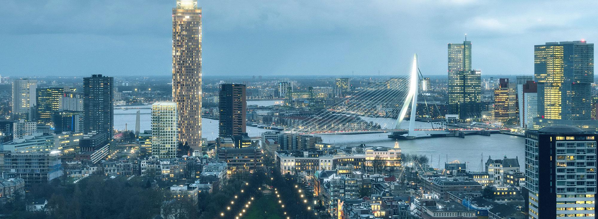 De zalmhaven in Rotterdam