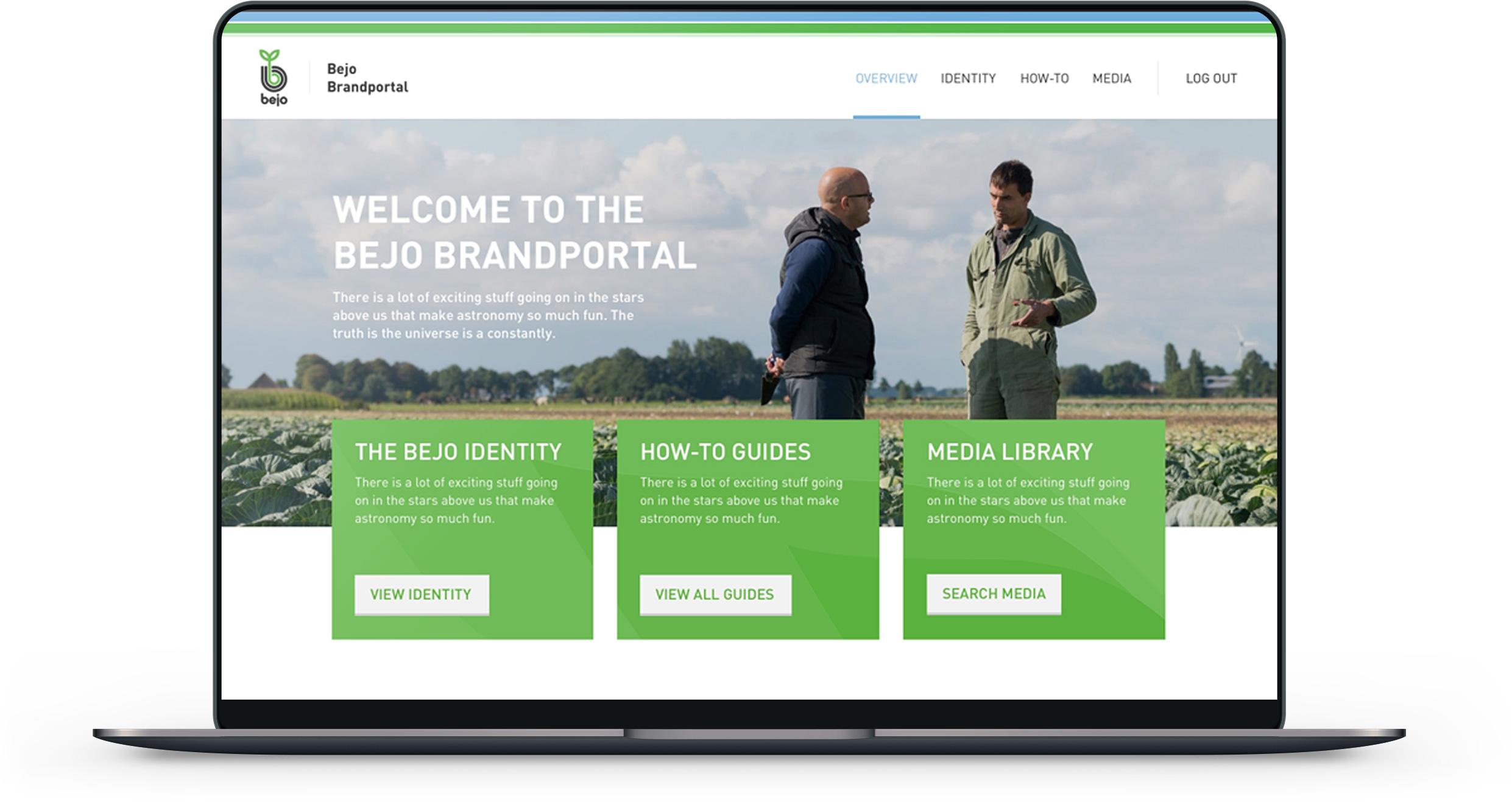 Afbeelding van de Bejo Brandportal website op een Macbook