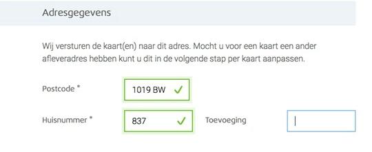 Afbeelding van een formulier waarin de gebruiker continue feedback krijgt over de ingevulde informatie, goed ingevulde velden worden groen gemarkeerd en van een vinkje voorzien.