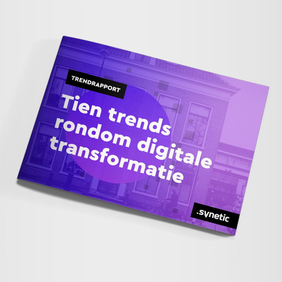 Afbeelding van de cover van het trendrapport: Tien trends rodndom digitale transformatie